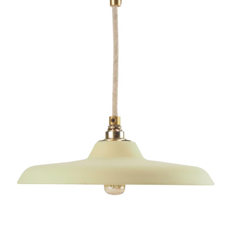 Platte hanglamp | Geel