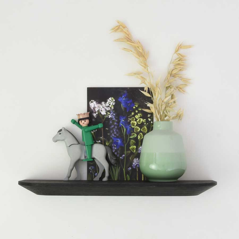 Wandplank - Zwart eiken - 30 cm