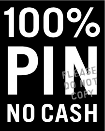 5. 100% pin raamsticker