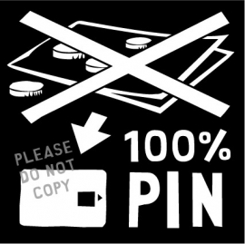 6. 100% pin illustratie raamsticker