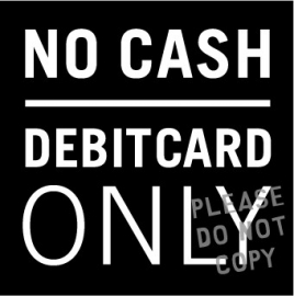 2. debit cards only raamsticker