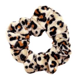 Mini scrunchie- leopard velvet