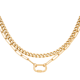 Double chunky chain necklace