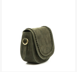 Suède crossbody bag Mila- armygreen