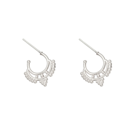 Ethnic earstuds Silverplated