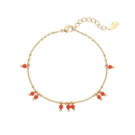 """Bracelet """"Tiny red beads"""""""