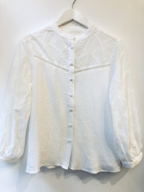 """""""Vicky broderie blouse"""" white"""