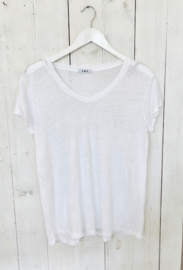 Perfect linnen basic T- white