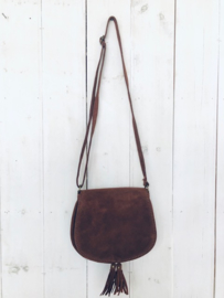 Suede boho bag- Brown