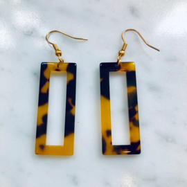 Resin square earrings