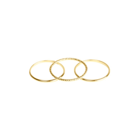 Dainty rings - set of 3