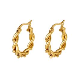 """Twisted  points earrings"""