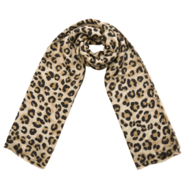 Leopard spotted scarf