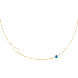 """Minty heart necklace"""