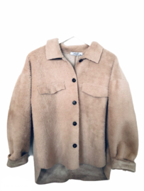 Furry jacket - Taupe