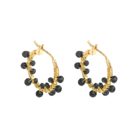 Hoops with black stones
