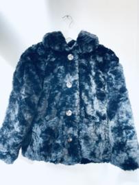 Faux fur jasje - Zwart