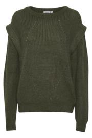 Saint Tropez- Army ruffle pullover