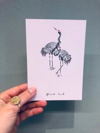 """""""Good luck""""card"""