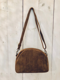 Suede bag- brown
