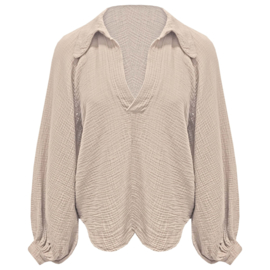 """"""" Cate blouse"""" beige"""