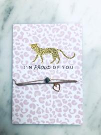 Bracelet-set on card