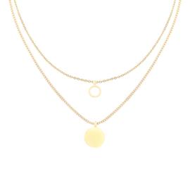 Double cirkle & coin Necklace