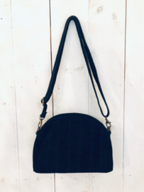 Suede bag- black
