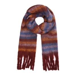 Striped scarf- petrol