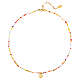 Colourful smiley necklace