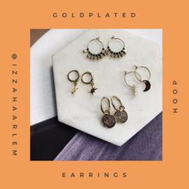 Goldplated earrings