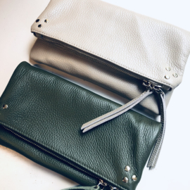 Leather bags 3 points- Beige & Army
