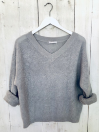 Fluffy knit- Light grey