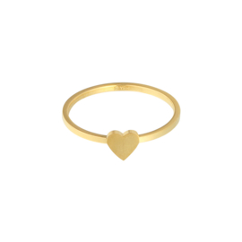 "Goldplated ""hearts"" ring"