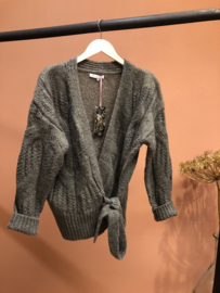 Wrap cardigan- mossgreen