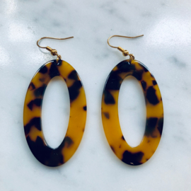 Resin oval earrings