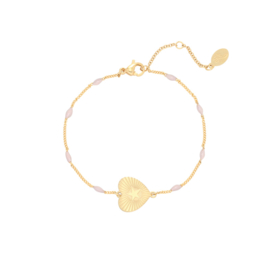""""""" Beaded heart"""" bracelet"""