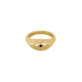 "Ring ""Eye see you"" goud"