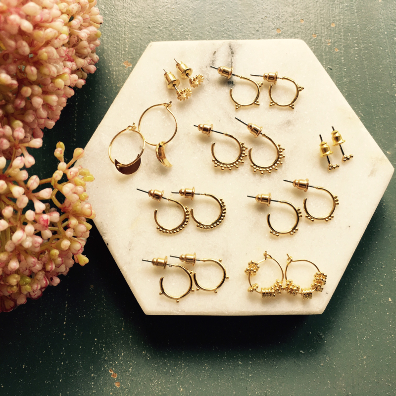 Gold plated earrings from 9,95! Check our webshop!