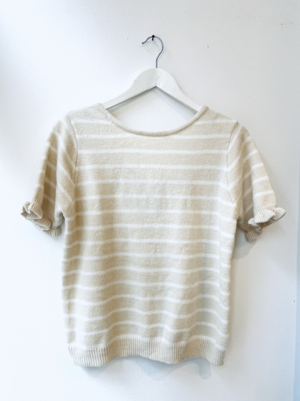 """Bowie striped knit"" -cream"