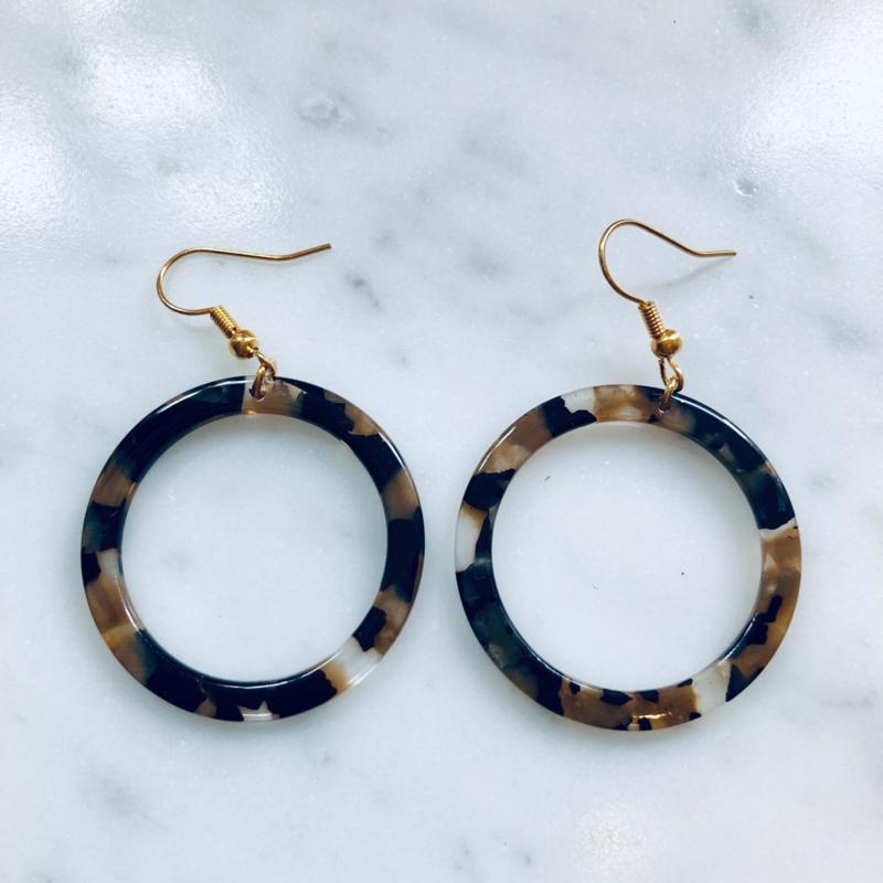 Resin rounds earrings