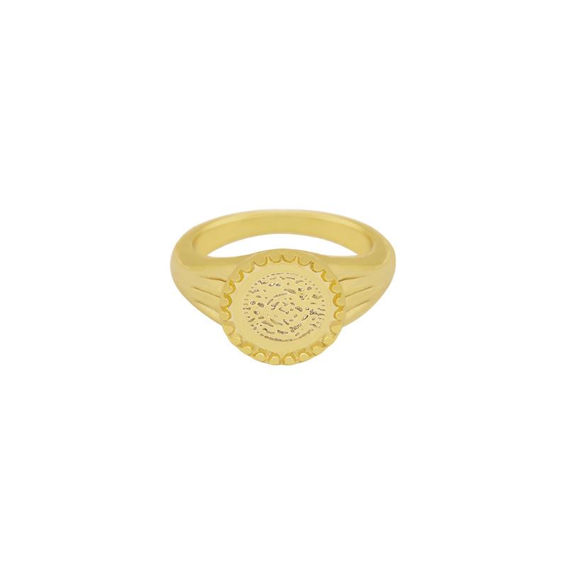 """Ring """"Roman coin""""goud"""