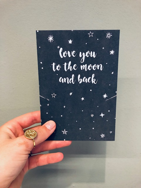 """Love you to the moon & back""card"