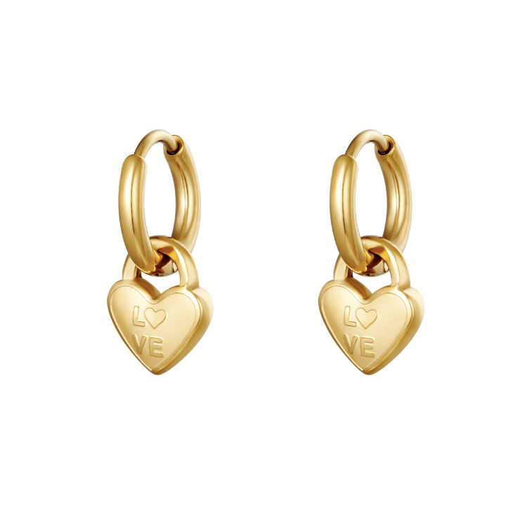 """Locked in love earrings"""