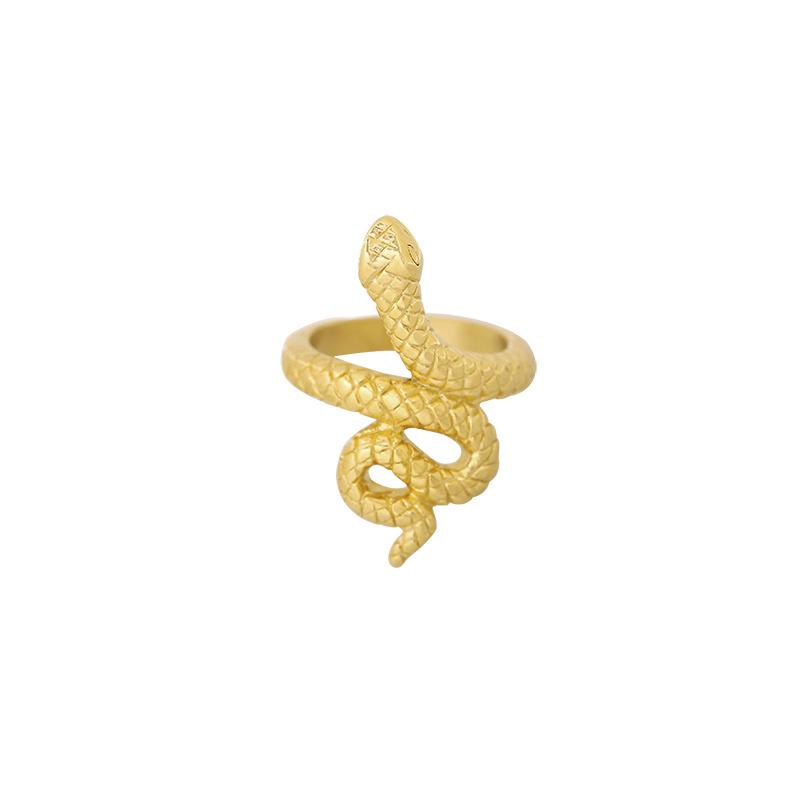 """Ring """"Snake"""" goud"""