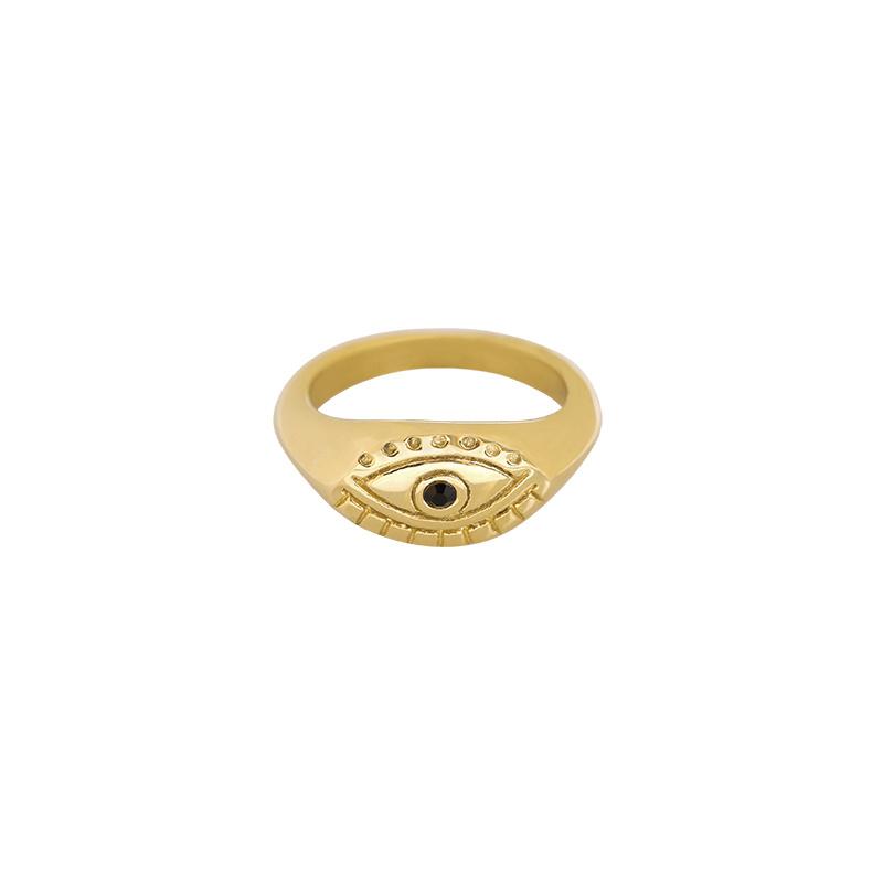 "Ring ""Eye see you"" goud"