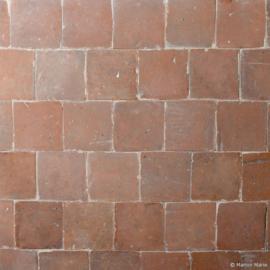 Oude terracotta oranje-rood