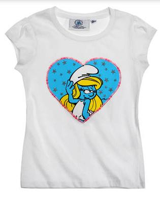 T-Shirt White Smurfin Heart