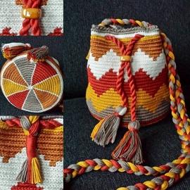 MINI Mochila Orange patroon