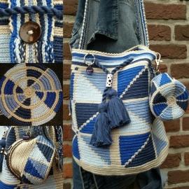 Mochila BLOK Blauw haakpakket